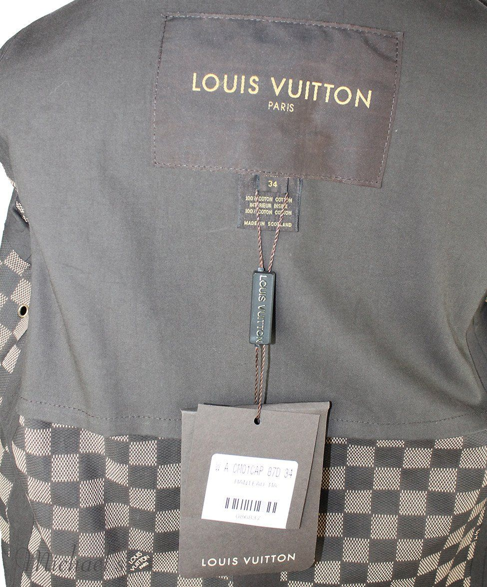 Louis Vuitton Green Olive Cotton Outerwear Sz 2 - Michael's Consignment NYC  - 4