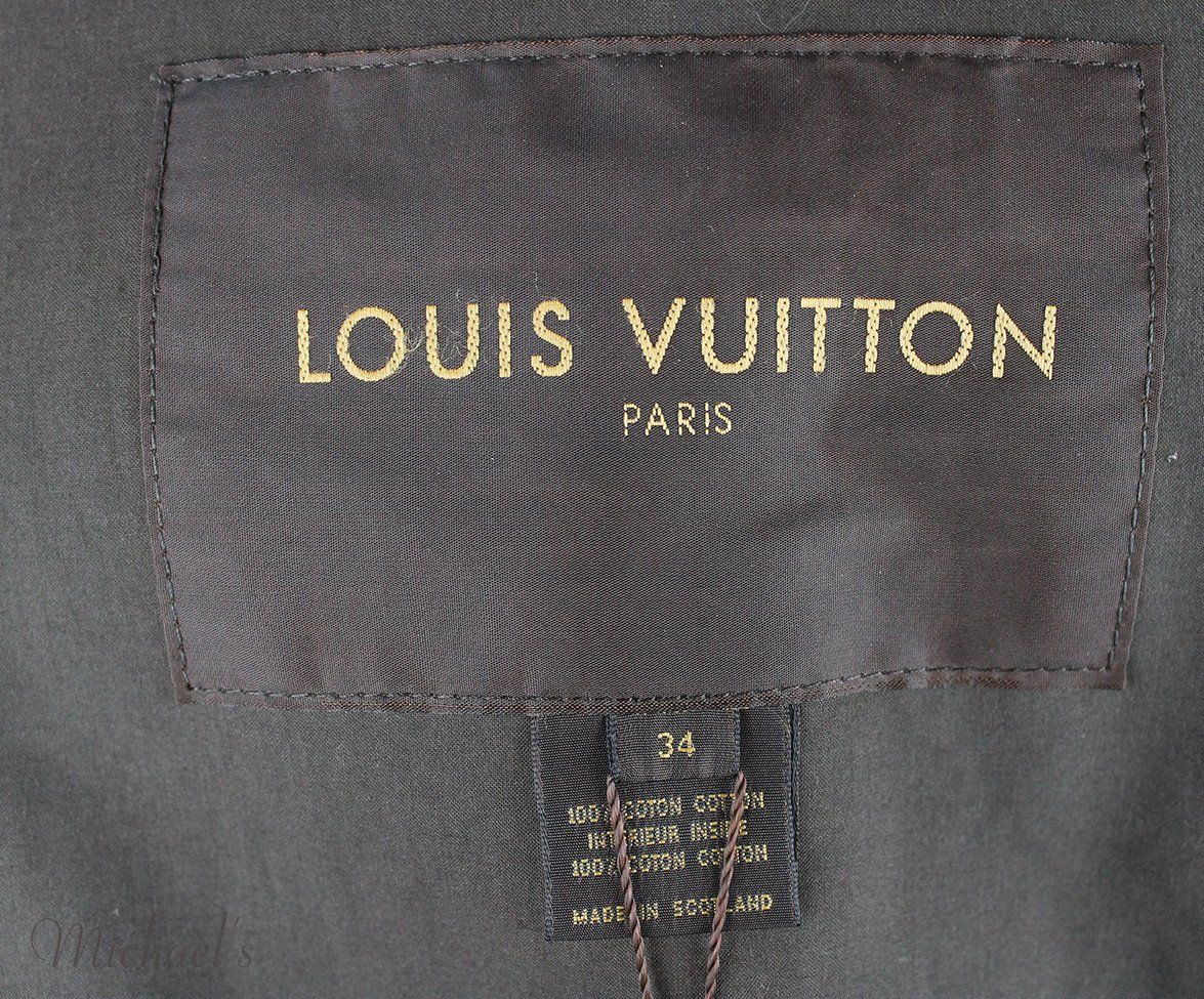 Louis Vuitton Green Olive Cotton Outerwear Sz 2 - Michael's Consignment NYC  - 5