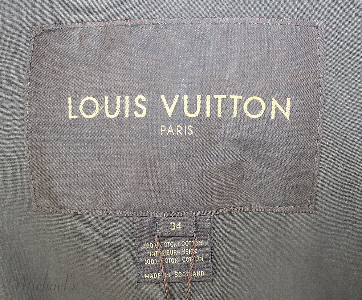 Louis Vuitton Green Olive Cotton Outerwear Sz 2 - Michael's Consignment NYC  - 6