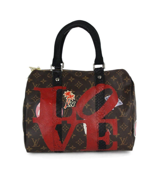 Louis Vuitton Phillip Karto brown hand painted satchel 1