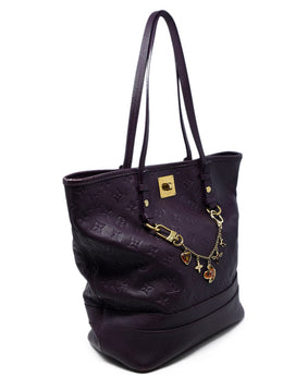 Louis Vuitton Purple Leather Handbag 2