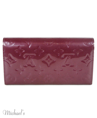 Louis Vuitton Purple Patent Leather Wallet