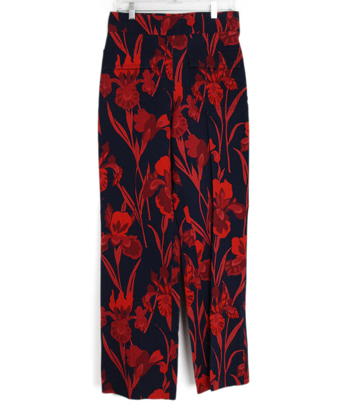 Louis Vuitton Red Blue Floral Pants 1