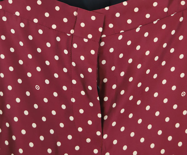 Louis Vuitton Burgundy with Cream Dots Pants 4