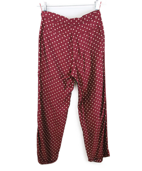 Louis Vuitton Burgundy with Cream Dots Pants 2