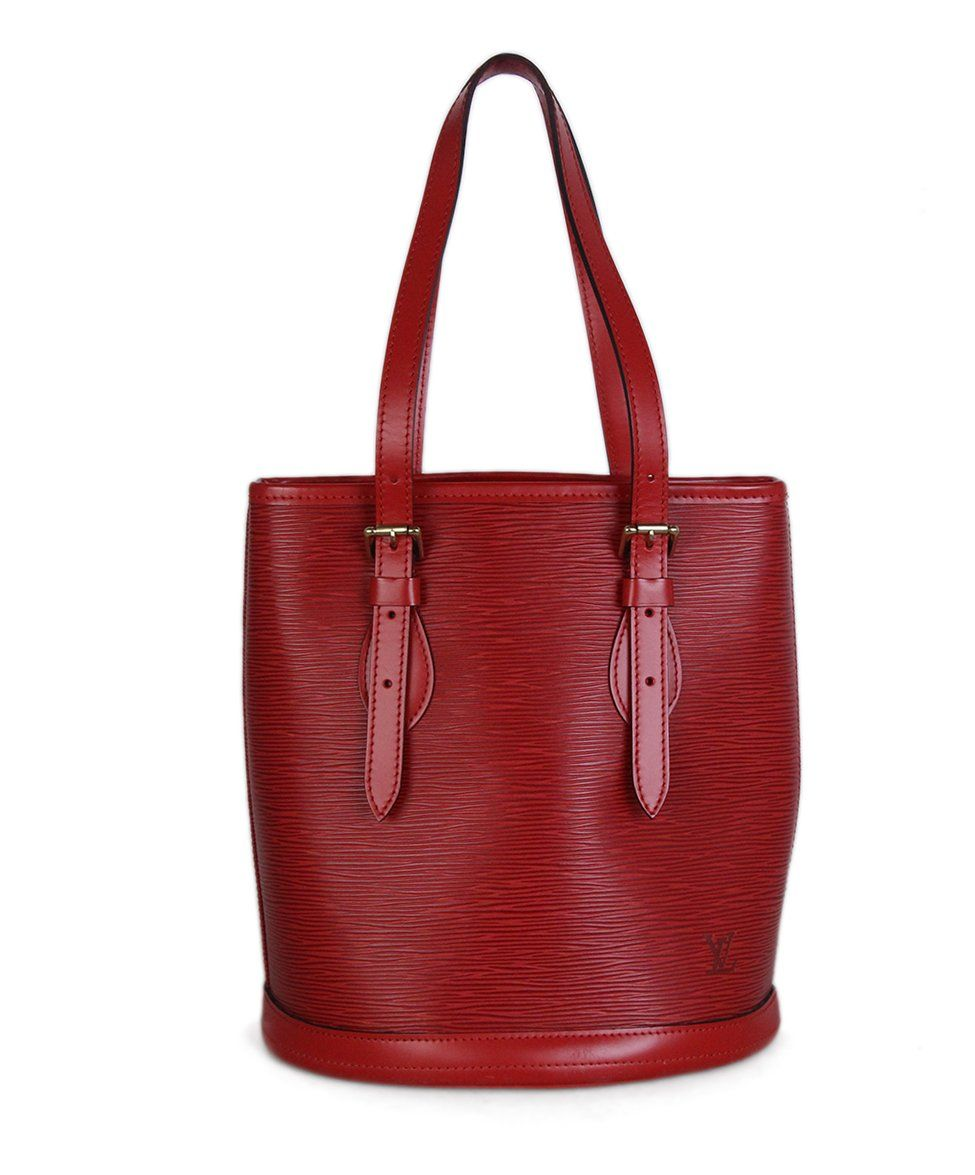 Louis Vuitton Red Epi Leather Bucket Bag 1