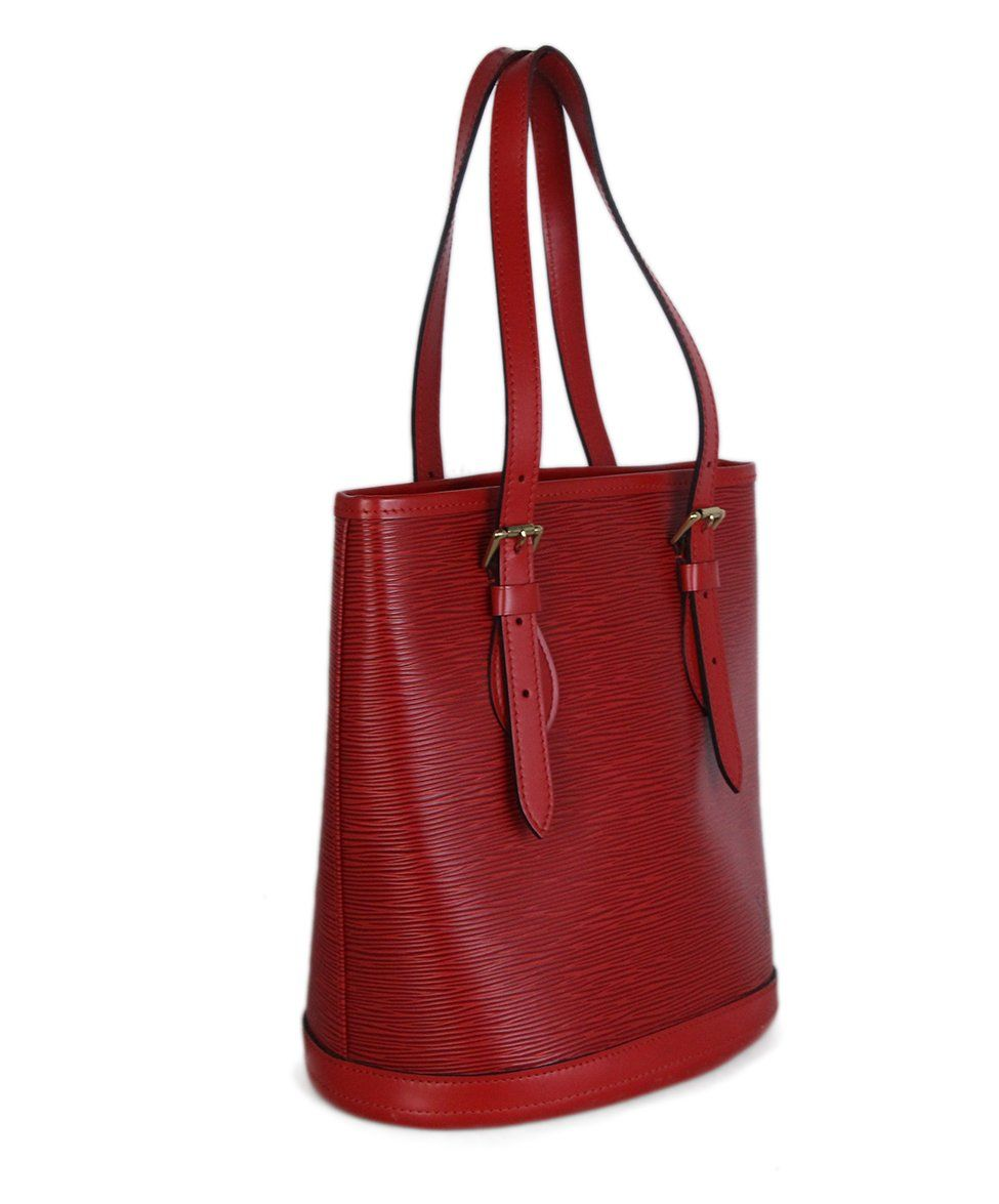 Louis Vuitton Red Epi Leather Bucket Bag 2