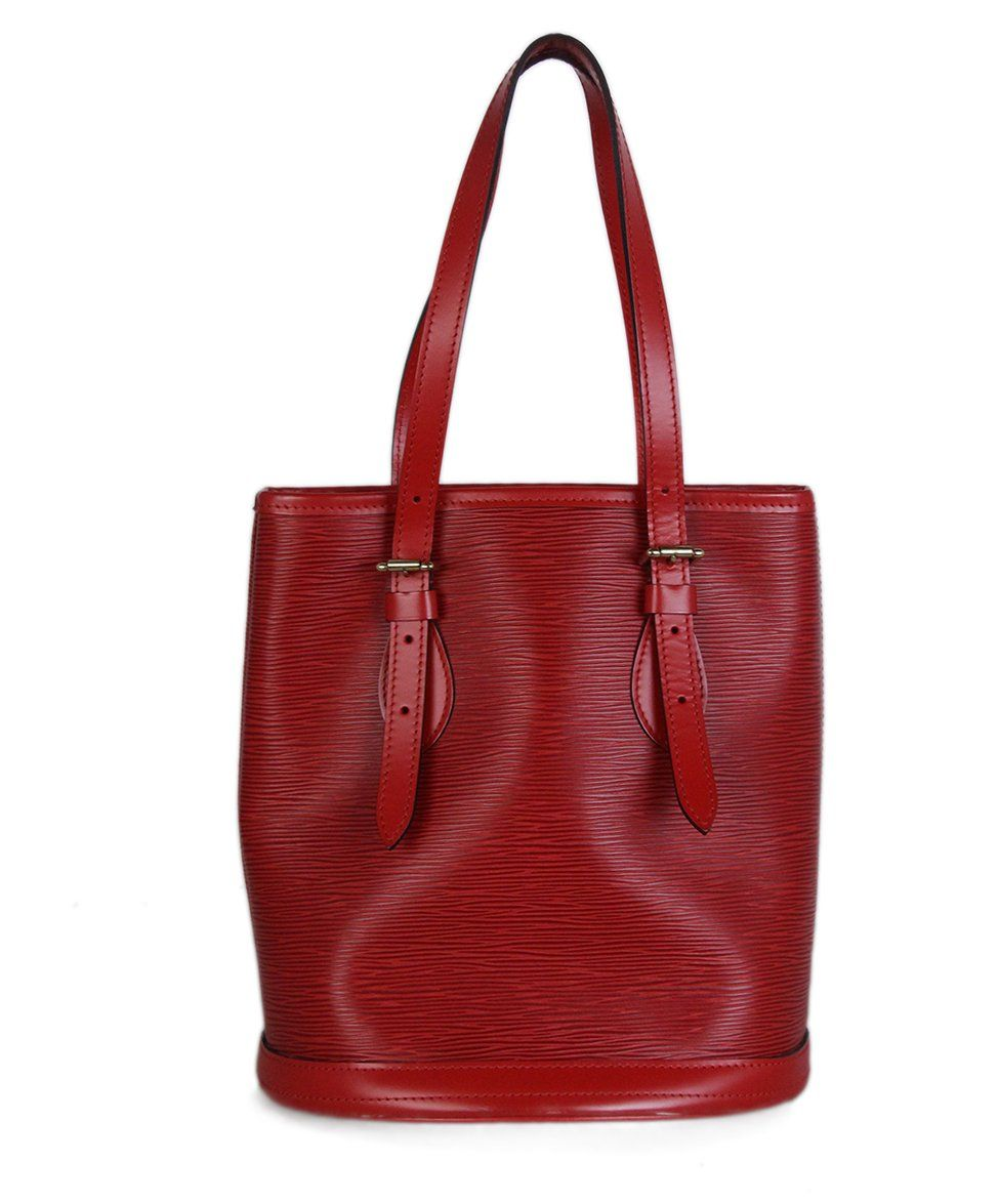 Louis Vuitton Red Epi Leather Bucket Bag 3