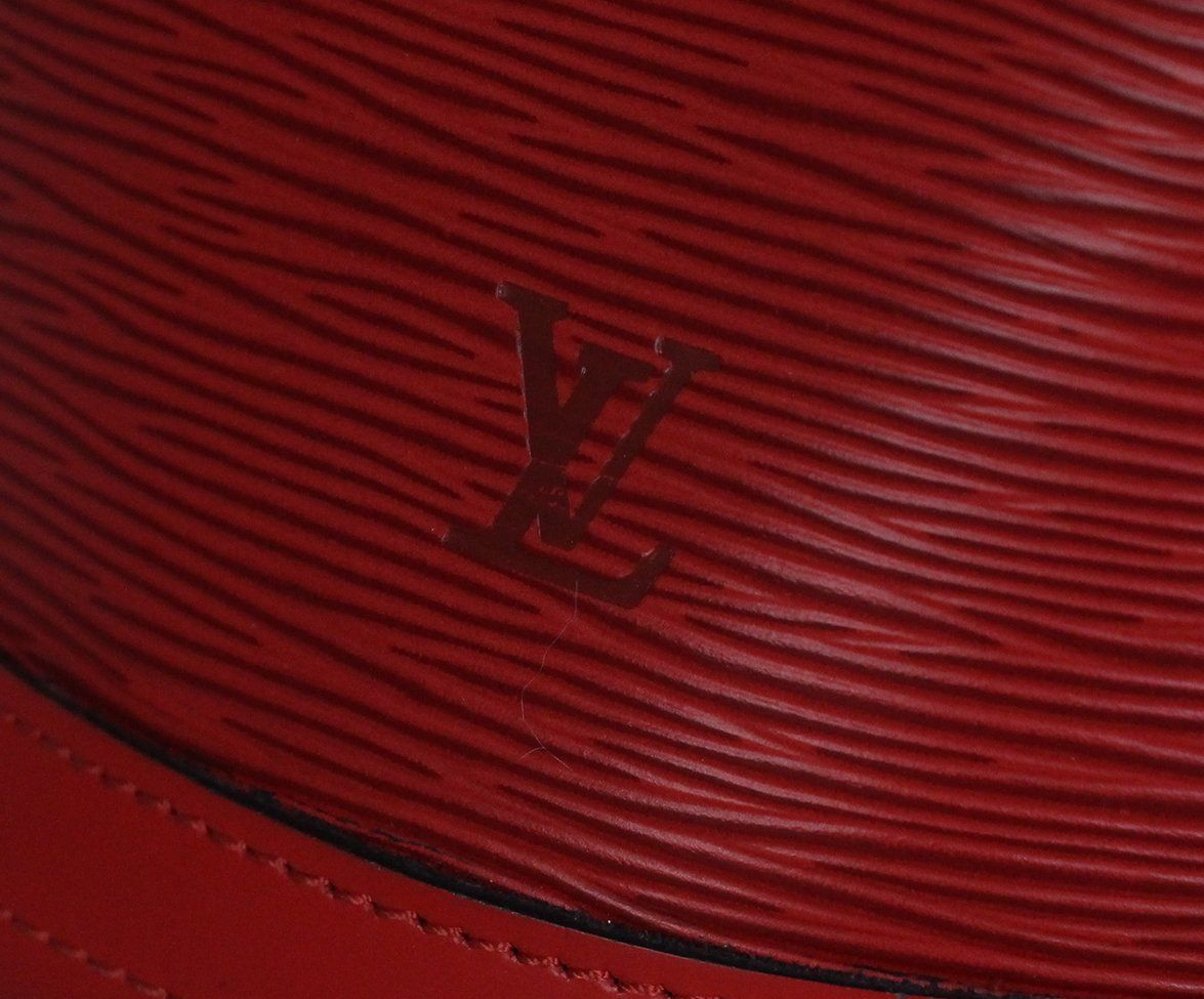 Louis Vuitton Red Epi Leather Bucket Bag 8