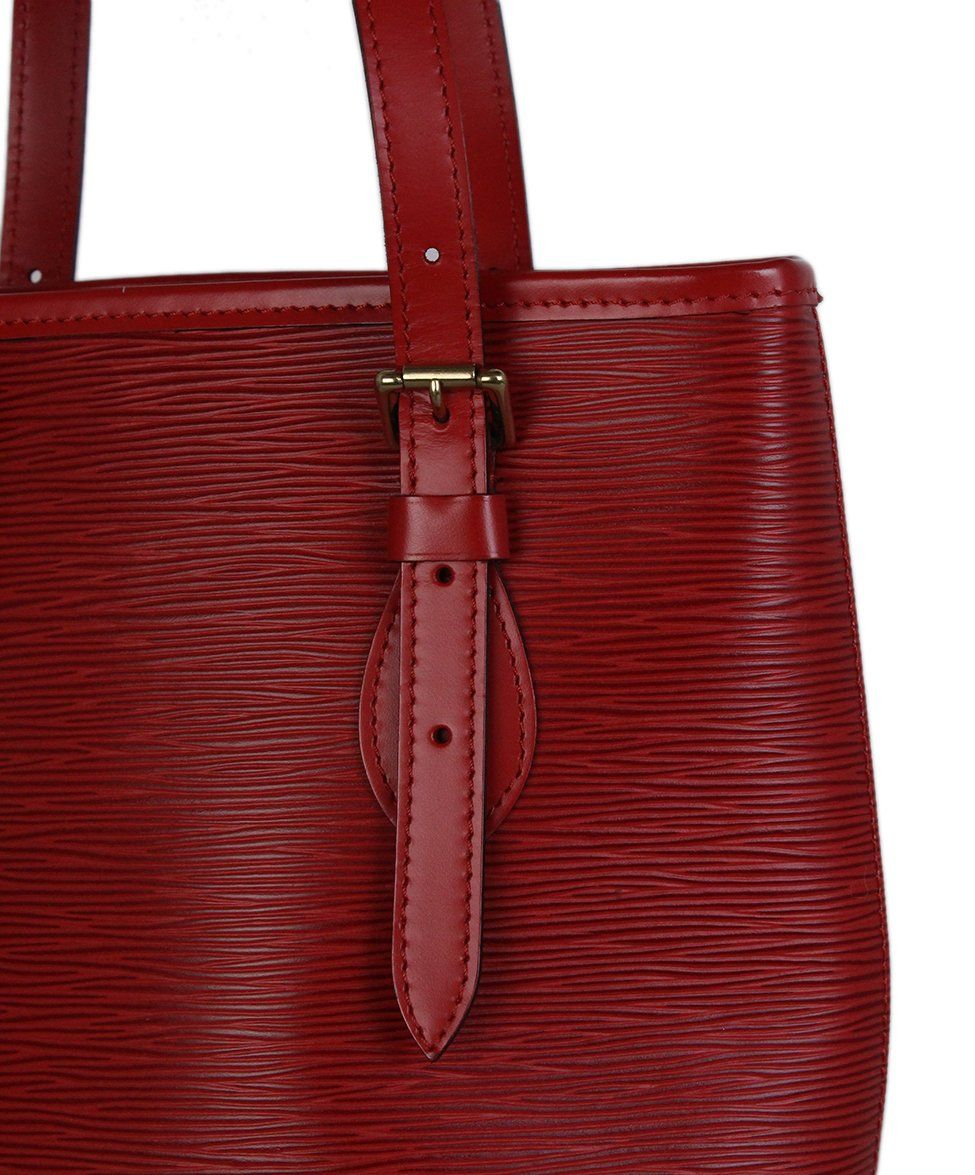 Louis Vuitton Red Epi Leather Bucket Bag 9