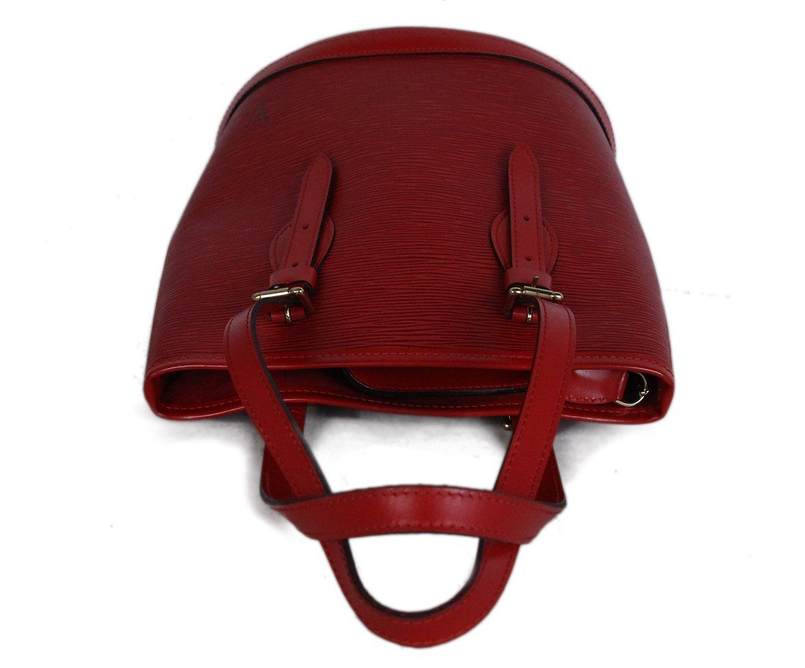 Louis Vuitton Red Epi Leather Bucket Bag 5