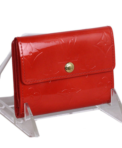 Louis Vuitton Red Patent Leather Wallet 1