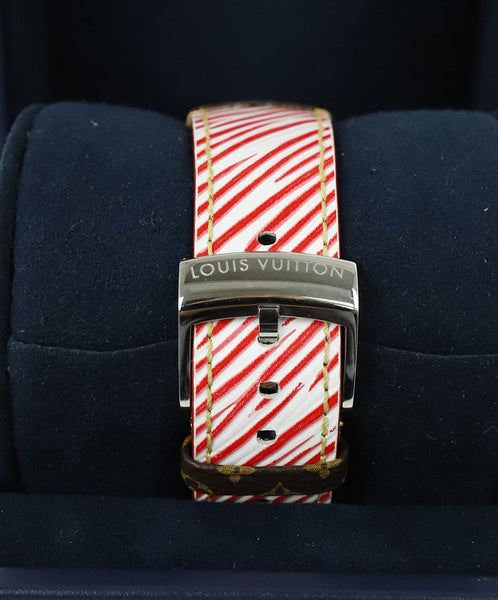 Louis Vuitton Red White Epi Leather Watch 7
