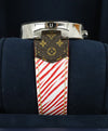 Louis Vuitton Red White Epi Leather Watch 8