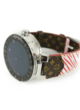 Louis Vuitton Red White Epi Leather Watch 2