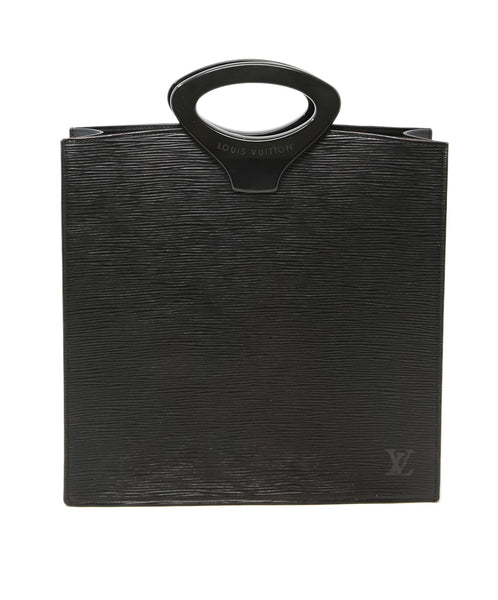 Louis Vuitton Vintage Black Epi Leather Handbag 1