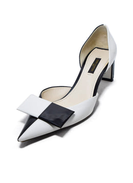 Louis Vuitton White Black Leather Shoes 1