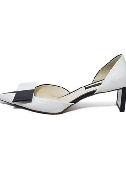 Louis Vuitton White Black Leather Shoes 2
