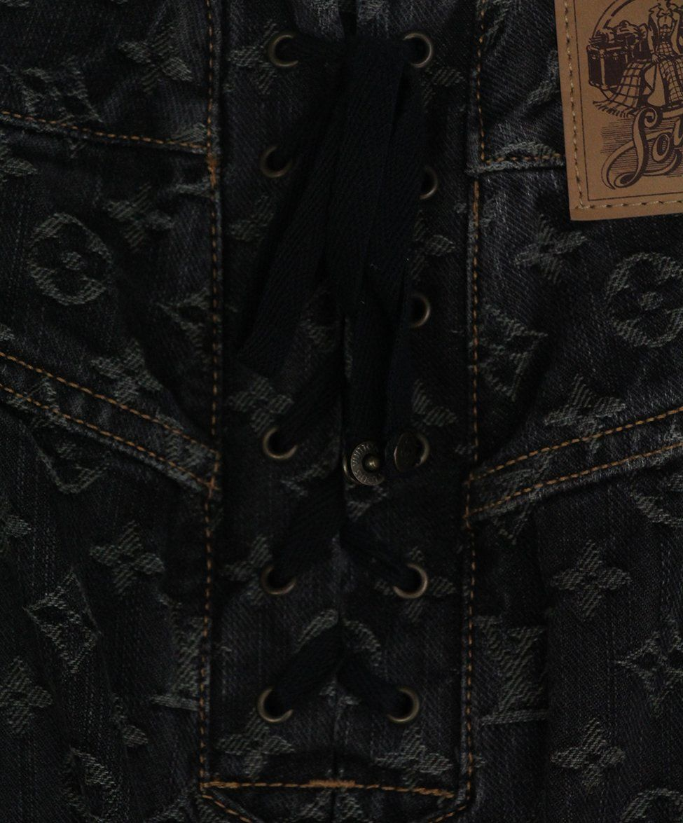 Louis Vuitton black denim monogram skirt 5