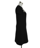 Louis Vuitton Black Wool Silver Studded Dress 2