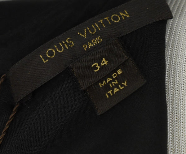 Louis Vuitton Black Wool Silver Studded Dress 4
