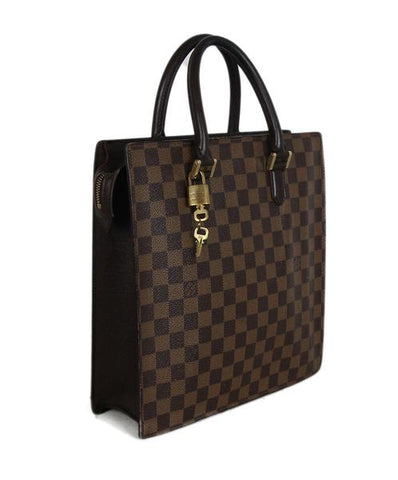 Louis Vuitton Brown Tan Damier Check Ebene Venice PM Vintage Handbag