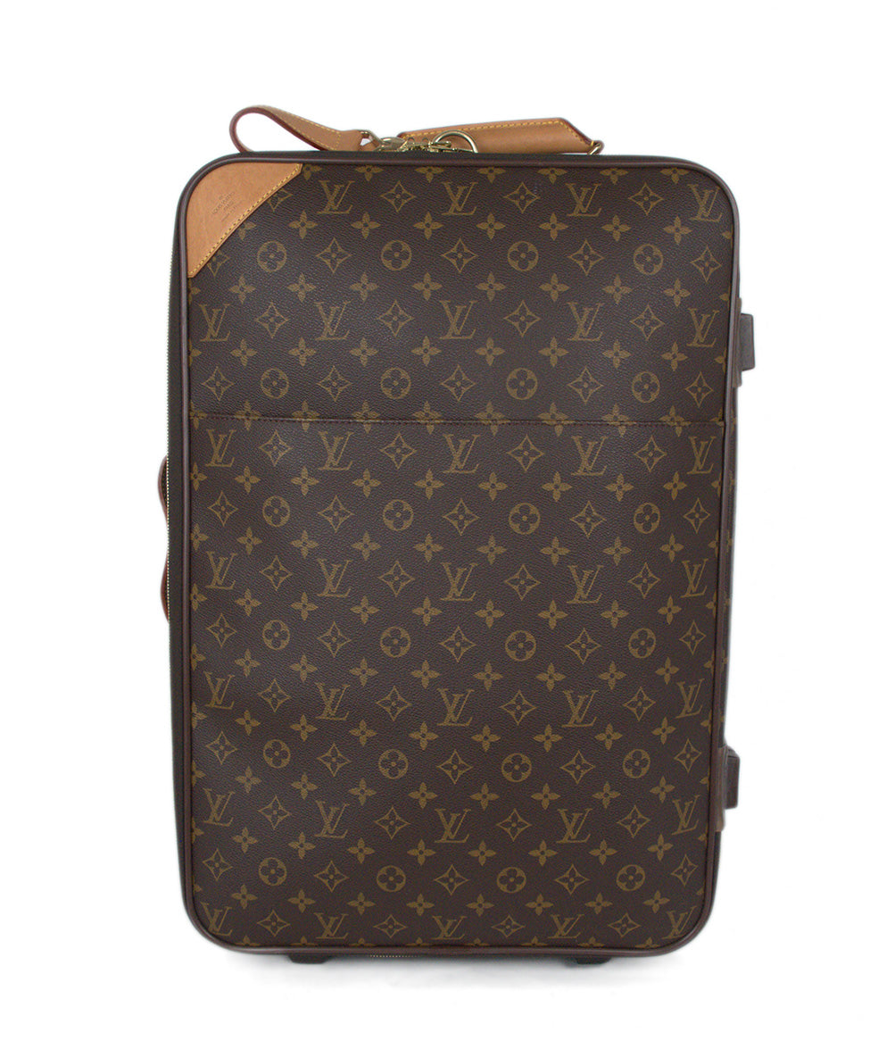 Louis Vuitton Brown Tan Monogram Canvas Travel Pegase Legere 55 Luggage 1