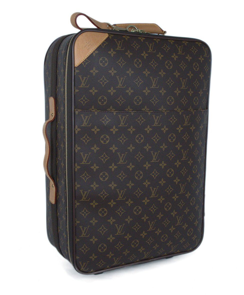 Louis Vuitton Brown Tan Monogram Canvas Travel Pegase Legere 55 Luggage 2