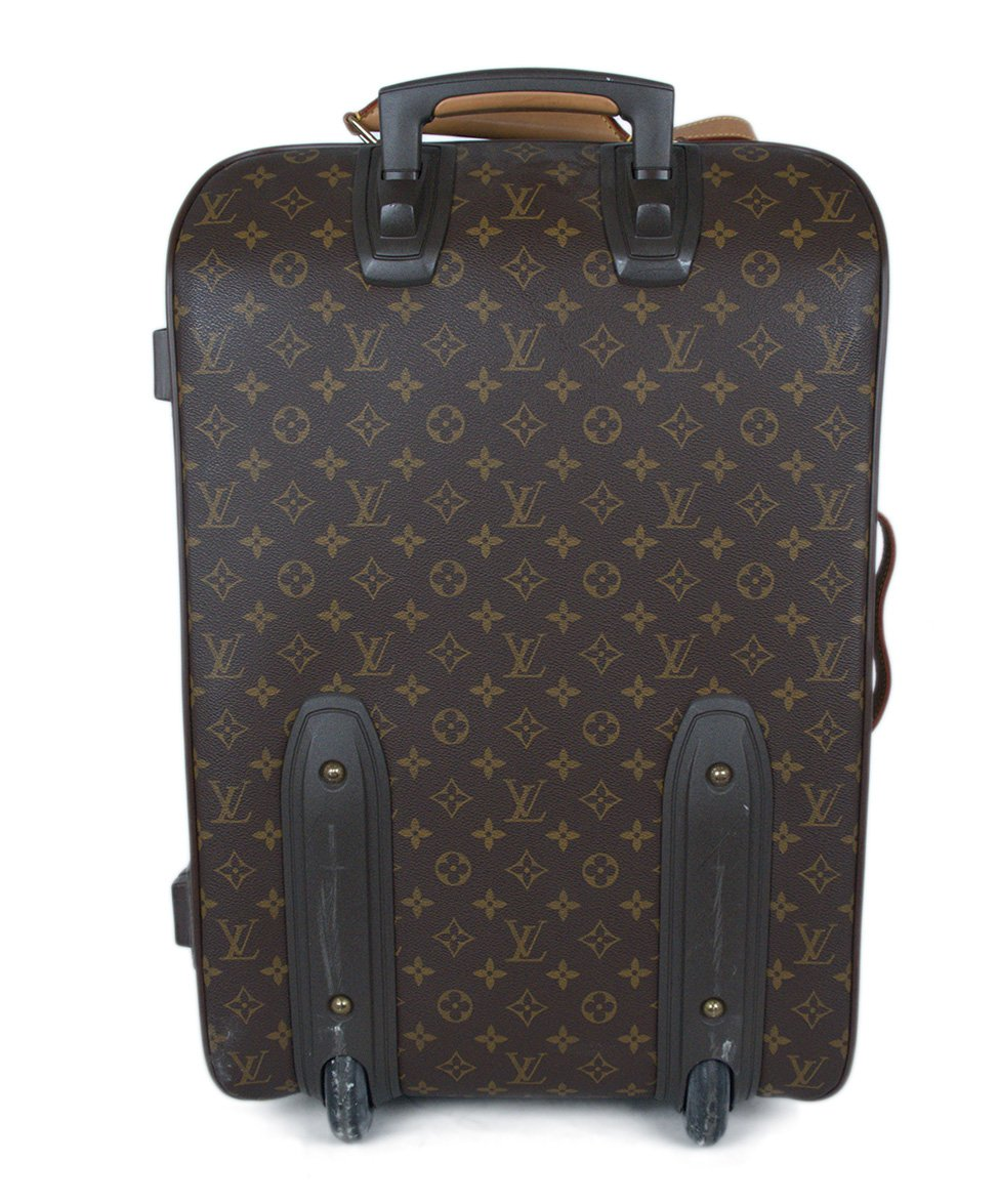Louis Vuitton Brown Tan Monogram Canvas Travel Pegase Legere 55 Luggage 3
