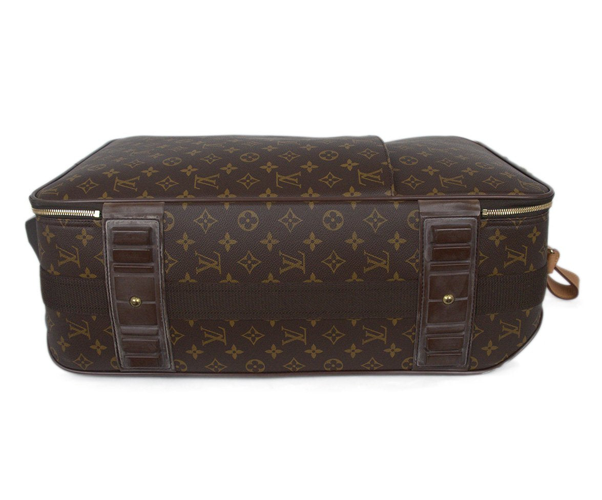 Louis Vuitton Brown Tan Monogram Canvas Travel Pegase Legere 55 Luggage 4