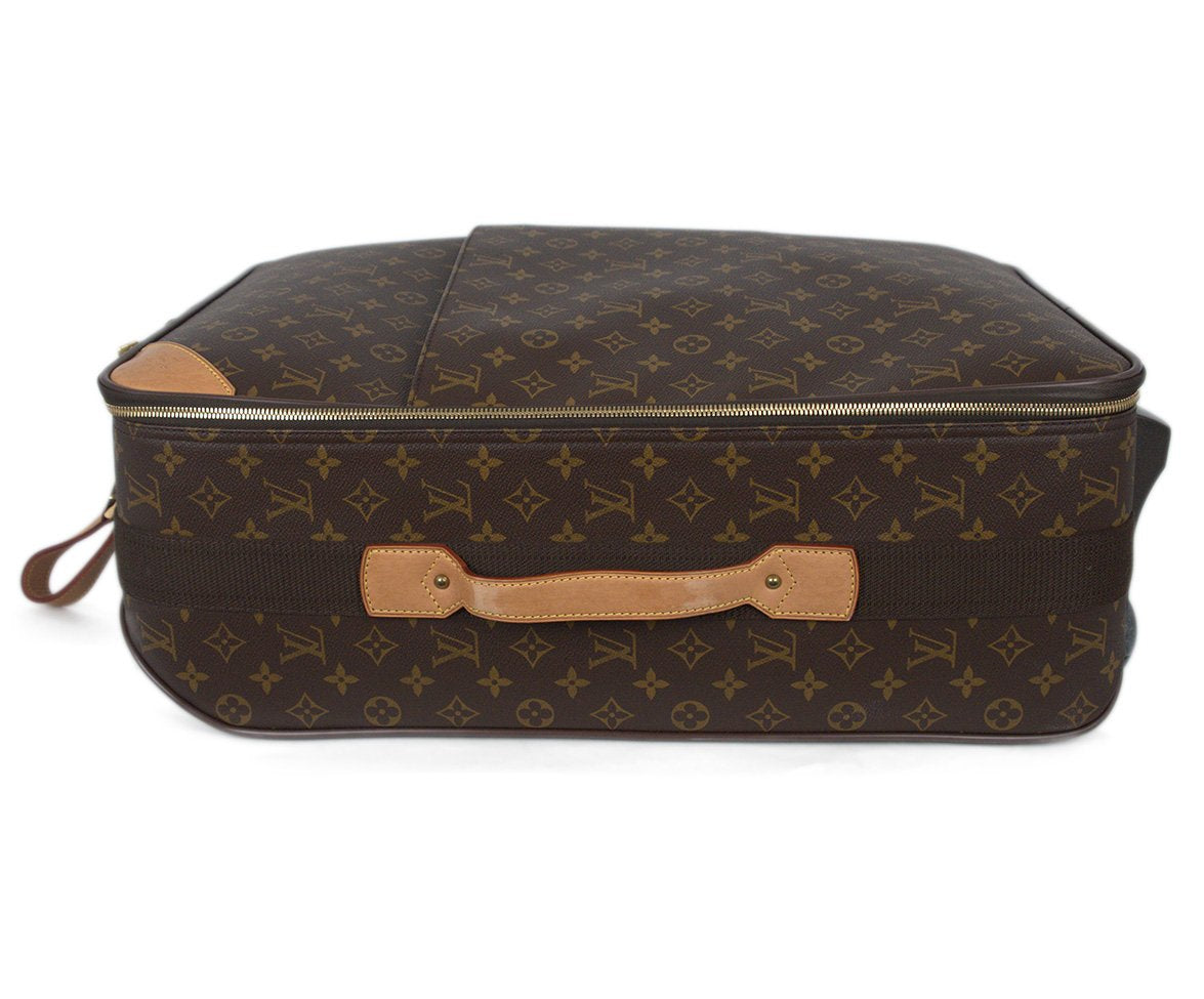 Louis Vuitton Brown Tan Monogram Canvas Travel Pegase Legere 55 Luggage 5