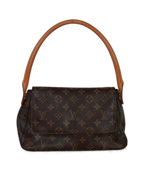 Louis Vuitton brown tan leather shoulder bag 1