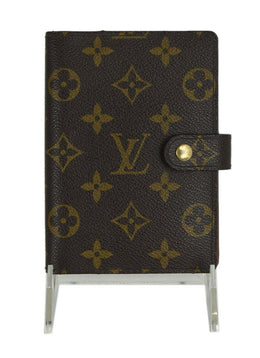 Louis Vuitton Brown Tan Monogram Canvas Leather Agenda | Louis Vuitton