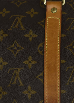 Louis Vuitton Vintage Brown Tan Monogram Leather Trim Tote | Louis Vuitton