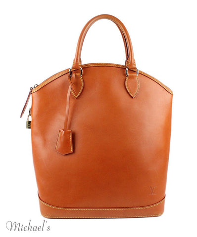 Louis Vuitton Cognac Leather Bag w/ Dust Cover - Michael's Consignment NYC  - 1