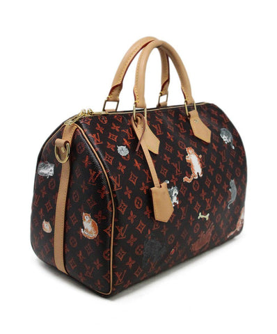 Satchel Louis Vuitton Brown Orange Canvas 1