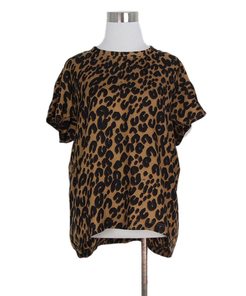 Louis Vuitton leopard print top 1
