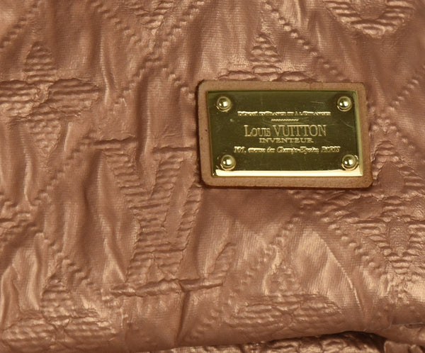 Louis Vuitton Metallic Rose Gold Fabric Clutch Handbag | Louis Vuitton