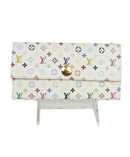 Louis Vuitton White Rainbow Canvas Murakami Monogram Wallet 1