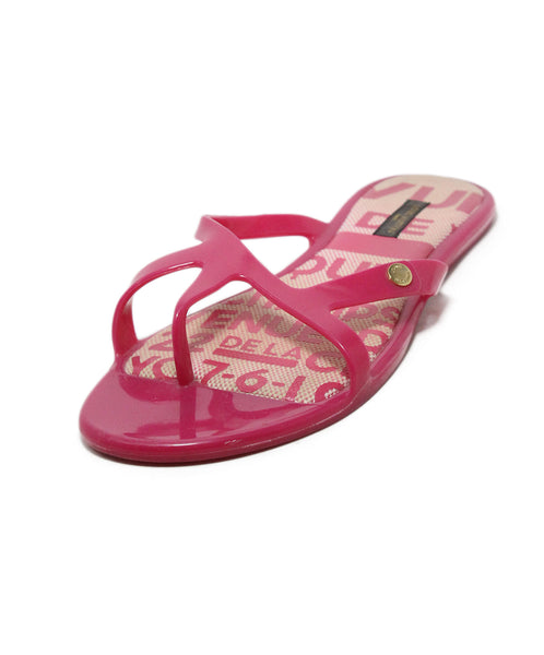 Louis Vuitton pink rubber sandals 1