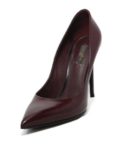 Louis Vuitton red burgundy leather heels 1