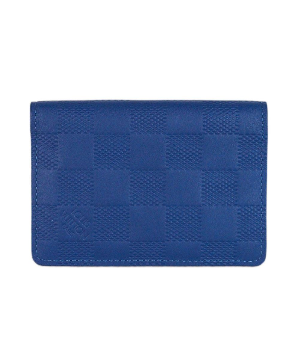 Louis vuitton Blue Damier Leather Pocket Organizer 1