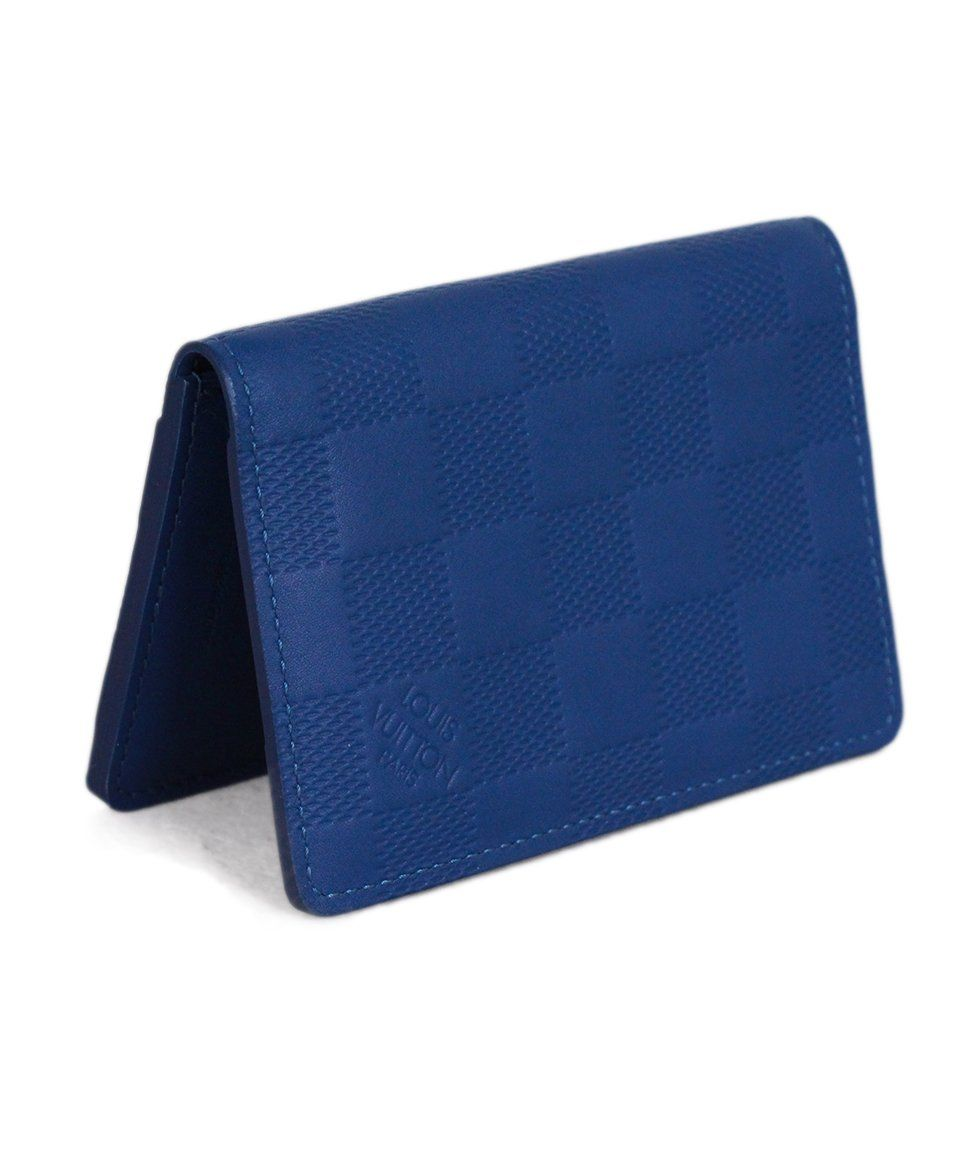 Louis vuitton Blue Damier Leather Pocket Organizer 2