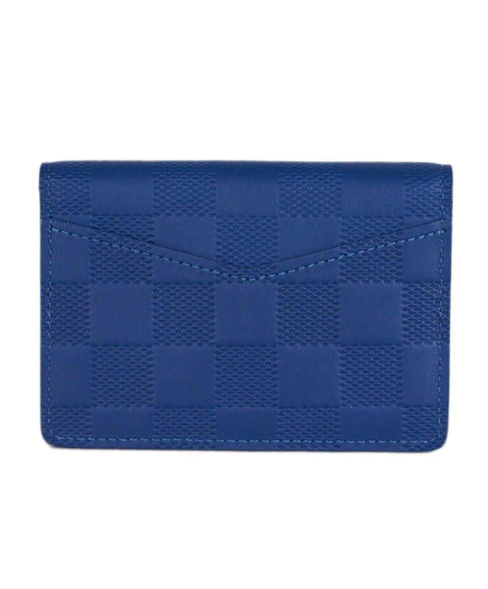 Louis vuitton Blue Damier Leather Pocket Organizer 3
