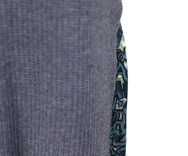 Louis Vuitton Grey Charcoal Wool Green Yellow Silk Trim Dress 4