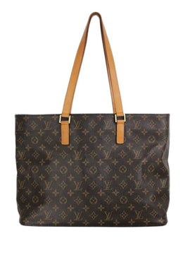 "Tote Gold Hardware Zipper Louis Vuitton Brown Tan Canvas Leather ""as is"" Handbag 1"