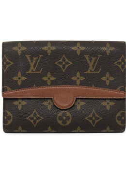 Cosmetic Cs Louis Vuitton Tan Brown Canvas Monogram Vintage Leather Goods 1