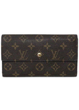 Wallet Louis Vuitton Brown Tan Monogram W/Dust Bag Leather Goods 1