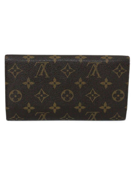 Wallet Louis Vuitton Brown Tan Monogram W/Dust Bag Leather Goods 2