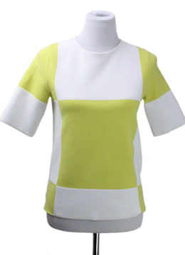 Louis Vuitton White Yellow Polyester Cotton Top